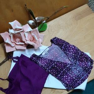 Ellen Tracy Purple Wrap Top